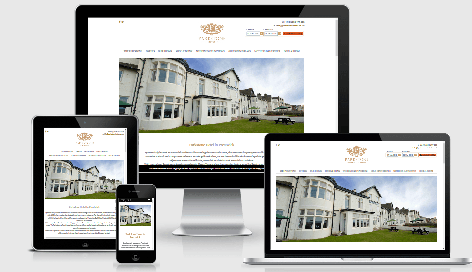 Parkstone Hotel - New Website by Active Office Digital